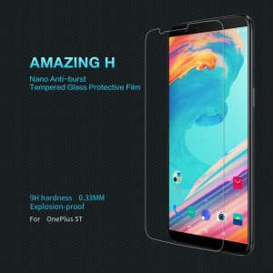 NILLKIN Amazing H for OnePlus 5T 9H 0.33mm Tempered Glass Screen Protector Anti-Explosion