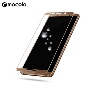 MOCOLO Silk Print Full Coverage Tempered Glass Screen Film for Huawei Mate 10 Pro - Gold