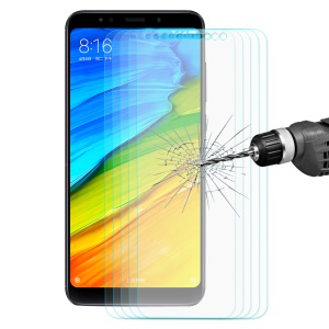 5PCS/Set HAT PRINCE for Xiaomi Redmi Note 5 (12MP Rear Camera) / Redmi 5 Plus (China) 0.26mm 9H 2.5D Tempered Glass Screen Protector Guard Film