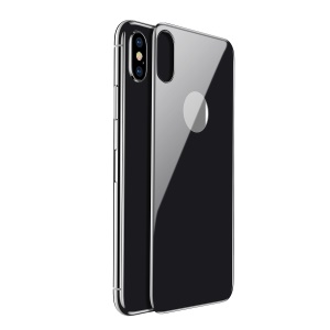 BASEUS 4D Arc Edges Full Glue Tempered Glass Back Protector Guard Film for iPhone X/10 - Black