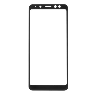 Full Coverage Tempered Glass Screen Protector for Samsung Galaxy A8 (2018) - Black