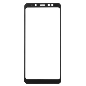 Full Coverage Tempered Glass Screen Protector for Samsung Galaxy A8+ (2018) - Black