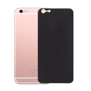 ANGIBABE 0.15mm 3D Arc Edge Litchi Texture Full Back Protector Film for iPhone 6s / 6 - Black