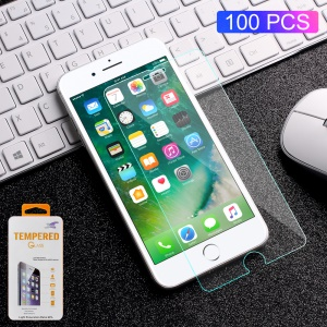 100PCS/Lot 0.3mm Tempered Glass Screen Protector Guard Film for iPhone 8/7/6s/6 Arc Edge