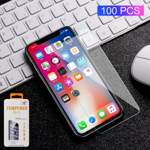 100PCS/Lot 0.3mm Tempered Glass Screen Protector Film for iPhone X Arc Edge