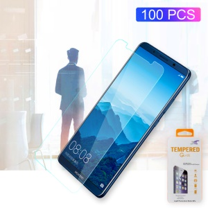 Protector De Pantalla De Cristal Templado 100pcs / Lot 0.3mm Para Huawei Mate 10 Lite / nova 2i / Maimang 6 / Honor 9i (india) Arc Edge