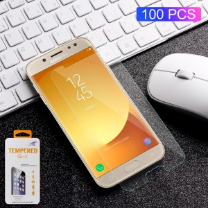 100 Pcs / Set 0.3 Mm Arc Bord Trempé Verre Protecteur D'écran Film De Protection Pour Samsung Galaxy J7 (2017) Version De L'UE / J7 Pro (2017)