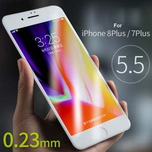 BENKS XPRO+ for iPhone 8 Plus / 7 Plus 0.23mm Full Size Curved Tempered Glass Screen Protector - White