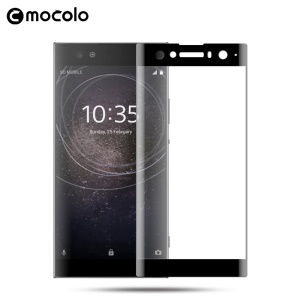 MOCOLO Curved Full Size Tempered Glass Screen Protector for Sony Xperia XA2 Ultra - Black