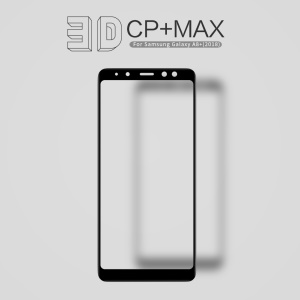 NILLKIN 3D CP+ Max for Samsung Galaxy A8+ (2018) Full Glue Full Size Tempered Glass Screen Protector Anti-explosion - Black