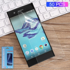 50PCS/Lot Full Coverage Soft Screen Protective Guard Film for Sony Xperia XA1 Ultra