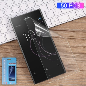 50Pcs/Set Full Coverage Soft Mobile LCD Screen Protector Films for Sony Xperia XZ1 Compact