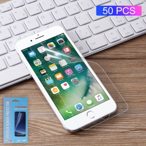 50Pcs/Set Full Coverage Soft LCD Screen Protector Films for iPhone 8 Plus 5.5 inch