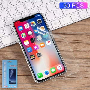 50Pcs/Set for iPhone XS / X 5.8 inch Soft Screen Protector Full Coverage Guard Films