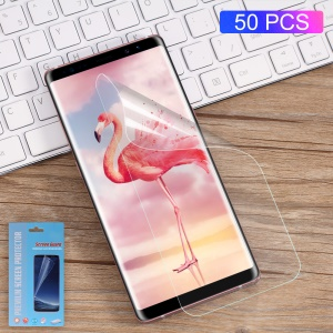 50Pcs/Set for Samsung Galaxy Note 8 N950 Full Screen Complete Covering Soft LCD Screen Protector Films
