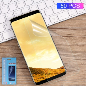 50Pcs/Set Full Screen Cover Soft Mobile LCD Protector Films for Samsung Galaxy S8+ SM-G955