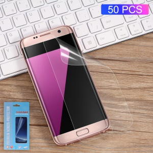50Pcs/Set Full Screen Cover Soft Mobile LCD Protector Films for Samsung Galaxy S7 SM-G930