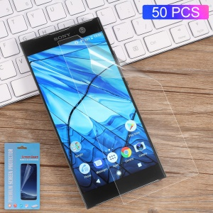 50Pcs/Set Full Coverage Soft Mobile LCD Screen Protector Films for Sony Xperia XA2