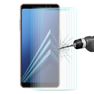 5Pcs HAT PRINCE for Samsung Galaxy A8 Plus (2018) Tempered Glass Screen Protector 0.26mm 9H 2.5D Arc Edge