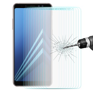 ENKAY 10Pcs/Set 0.26mm 9H 2.5D Arc Edge Tempered Glass Screen Protector for Samsung Galaxy A8+ (2018)