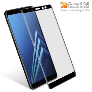 IMAK 3D Curved Full Coverage Tempered Glass Screen Protector for Samsung Galaxy A8 (2018) - Black