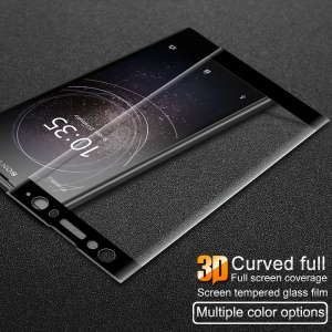IMAK for Sony Xperia XA2 Ultra 3D Curved Tempered Glass Full Covering Screen Protector - Black