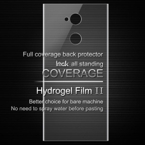 IMAK Soft Clearer Hydrogel Film II for Sony Xperia XA2 Ultra Full Coverage Back Protector