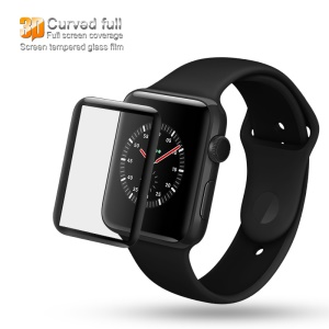 IMAK 3D Curved Full Cover Tempered Glass Screen Protector Film for Apple Watch Series 3/2/1 42mm