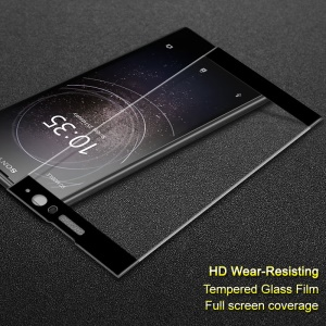 IMAK Complete Coverage Tempered Glass Protector Film for Sony Xperia XA2 - Black