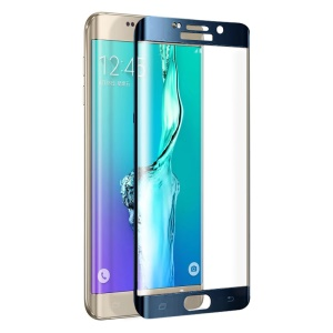 FEMA Full Size Curved Tempered Glass Screen Protector for Samsung Galaxy S6 Edge G925 - Blue