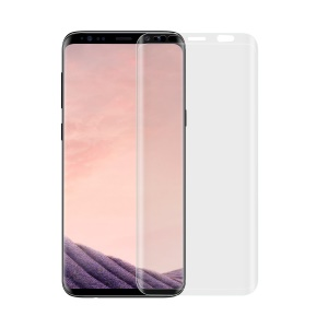 ANGIBABE 0.26mm Transparent Full Size Curved Tempered Glass Screen Film for Samsung Galaxy S9+ G965