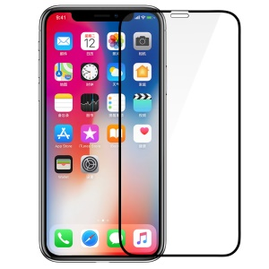 BENKS XPRO+ for iPhone XS / X 5.8-inch 0.23mm Full Coverage Curved Tempered Glass Screen Protector - Black
