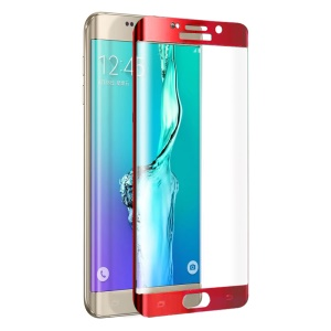 FEMA Plated Full Size Curved Tempered Glass Screen Film for Samsung Galaxy S6 Edge+ G928 - Red