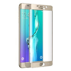 FEMA Plated Full Size Curved Tempered Glass Screen Guard for Samsung Galaxy S6 Edge+ G928 - Gold
