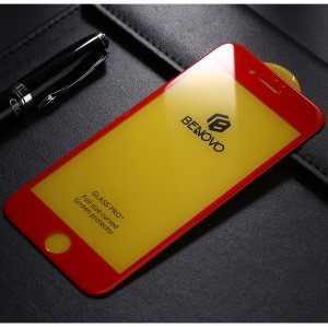 BENOVO for iPhone 8 Plus 3D Tempered Glass Full Coverage Screen Guard Film - Red