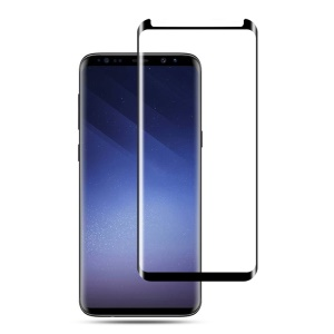 MOCOLO for Samsung Galaxy S9+ G965 3D Curved Tempered Glass Screen Protector Shield Film (Opening on Top) - Black