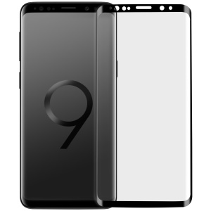 Film In Vetro Temperato Anti-esplosione MOMAX 0.3mm 3D Per Samsung Galaxy S9 + SM-G965 - Nero