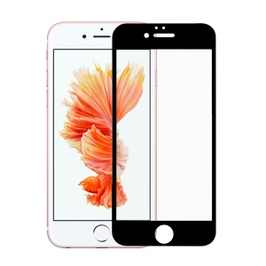 ANGIBABE for iPhone 6s Plus/6 Plus 5.5 inch 0.18mm Silk Printing 6D Full Coverage Tempered Glass Screen Protector - Black