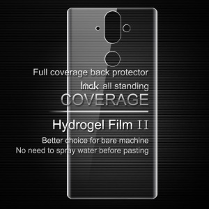 IMAK Soft Clearer Hydrogel Film II for 	Nokia 8 Sirocco / Nokia 9 Full Coverage Back Protector Film