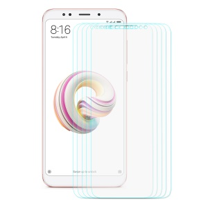ENKAY 5Pcs/Set 0.26mm 9H 2.5D Arc Edge Tempered Glass Screen Protector Films for Xiaomi Redmi Note 5