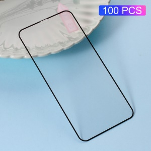 100PCS/Lot RURIHAI Silk Print Full Size Tempered Glass Screen Protector Film for iPhone X/Xs 5.8 inch - Black