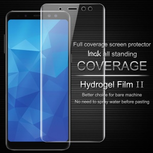 IMAK Soft Clearer Hydrogel Film II Full Cover Front Screen Protector Film for Samsung Galaxy A8+ (2018)