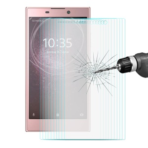 ENKAY 10PCS/Set 0.26mm 9H 2.5D Arc Edge Tempered Glass Screen Protectors for Sony Xperia L2