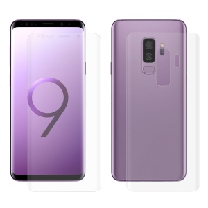 HAT PRINCE Soft PET 3D Curved Front + Back Guard Films for Samsung Galaxy S9+ SM-G965 (Full Coverage)