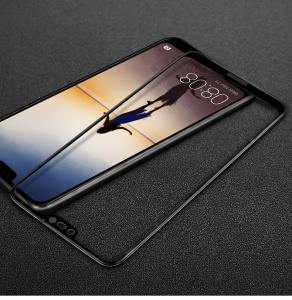 IMAK Full Coverage Tempered Glass Screen Protector for Huawei P20 Lite/Nova 3e - Black