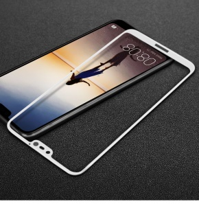 IMAK Full Coverage Tempered Glass Screen Guard Film for Huawei P20 Lite/Nova 3e - White