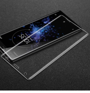 IMAK 3D Curved Full Screen Guard Tempered Glass Film for Sony Xperia XZ2 - Transparent