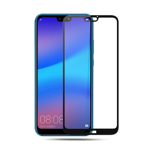 MOCOLO Silk Print Arc Edge Full Size Tempered Glass Screen Protector for Huawei P20 Lite / Nova 3e (China) - Black