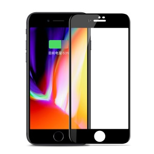 JOYROOM Knights Series HD Clear Anti-fingerprint Full Screen Tempered Glass Protection Film for iPhone 8 - Black