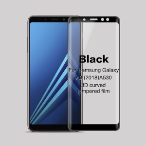 MOFI 3D Curved Complete Covering Tempered Glass Screen Protector for Samsung Galaxy A8 (2018) A530F - Black